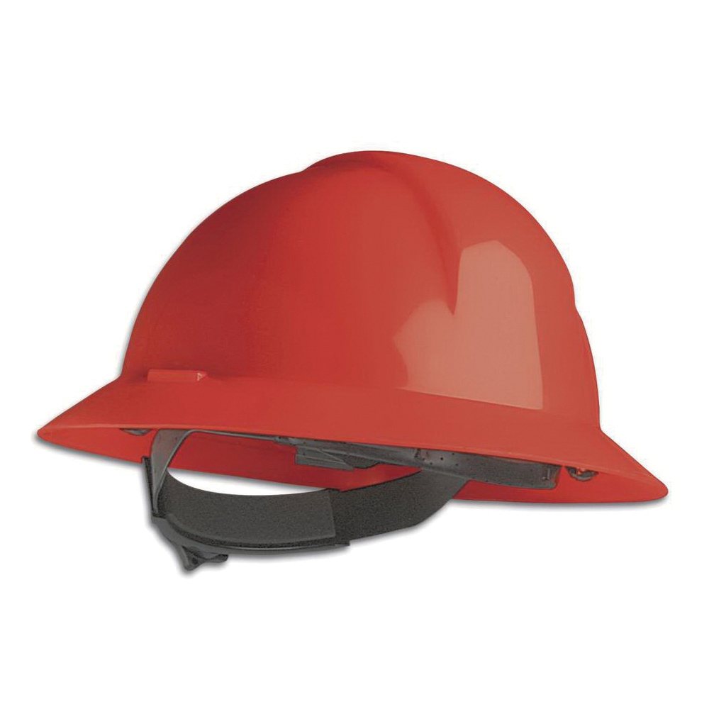 North® by Honeywell A49R150000 Everest Full Brim Hard Hat, SZ 6-1/2 Fits Mini Hat, SZ 8 Fits Max Hat, HDPE, 6-Point Nylon Suspension, ANSI Electrical Class Rating: Class E, ANSI Impact Rating: Type I, Ratchet Adjustment