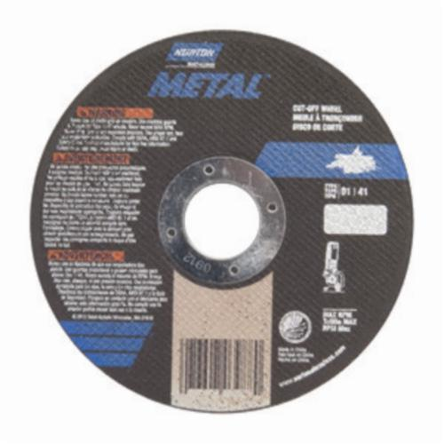 Norton® Metal RightCut™ 07660701616 Metal RightCut™ All Purpose Small Diameter Cut-Off Wheel, 4 in Dia x 0.04 in THK, 5/8 in Center Hole, 60 Grit, Aluminum Oxide Abrasive