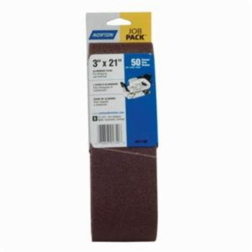 Norton® Metalite® 07660701740 R255 Portable Coated Abrasive Belt, 3 in W x 21 in L, 50 Grit, Coarse Grade, Aluminum Oxide Abrasive, Cotton Backing