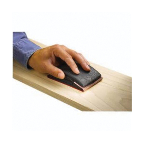Norton® 07660701889 Hand Sanding Block, 5 in L x 2-3/4 in W, Rubber Abrasive, Slotted Jaws Attachment