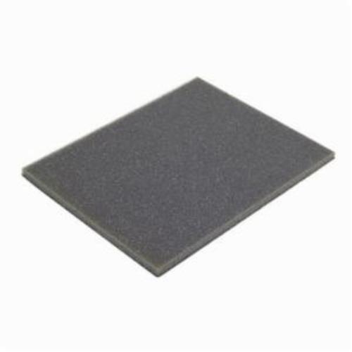 Norton® MultiSand™ 07660702257 Contour Sanding Sponge, 5-1/2 in L x 4-1/2 in W x 3/16 in THK, 100 Grit, Medium Grade