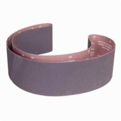 Norton® Metalite® 07660760064 R215 Narrow Coated Abrasive Belt, 6 in W x 89 in L, 120 Grit, Medium Grade, Aluminum Oxide Abrasive, Cotton Backing