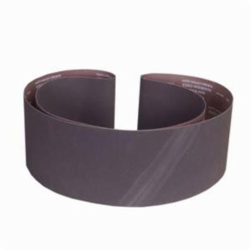 Norton® Metalite® 07660760083 R215 Narrow Coated Abrasive Belt, 6 in W x 108 in L, 100 Grit, Medium Grade, Aluminum Oxide Abrasive, Cotton Backing
