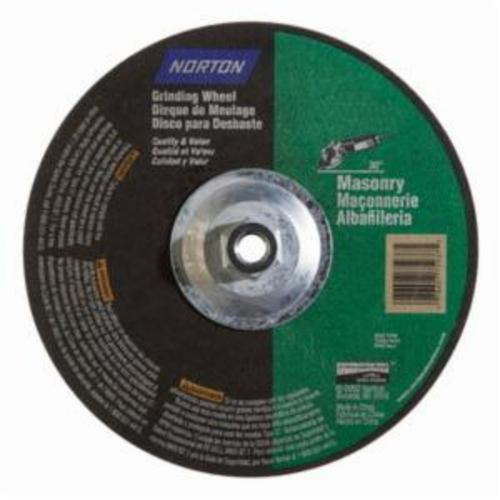 Norton® 07660775937 DC914HMa All Purpose Cut-Off Wheel With Quick-Change Hub, 9 in Dia x 1/4 in THK, 24 Grit, Silicon Carbide Abrasive