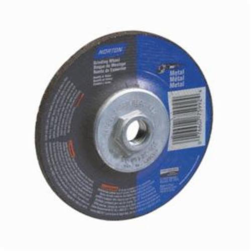 Norton® Gemini® 07660775938 DC914HM All Purpose Depressed Center Wheel With Quick-Change Hub, 9 in Dia x 1/4 in THK, 24 Grit, Aluminum Oxide Abrasive