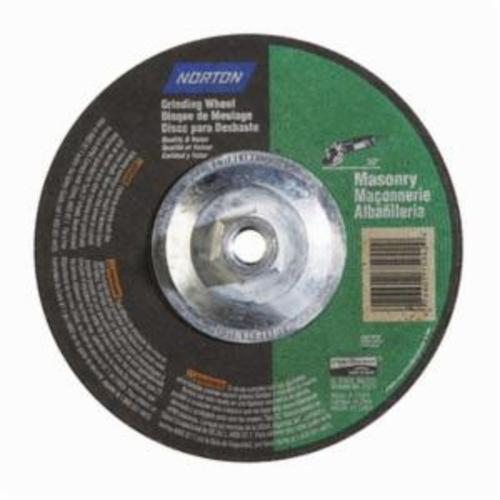 Norton® Gemini® 07660775942 DC714HMa All Purpose Depressed Center Wheel With Quick-Change Hub, 7 in Dia x 1/4 in THK, 24 Grit, Silicon Carbide Abrasive