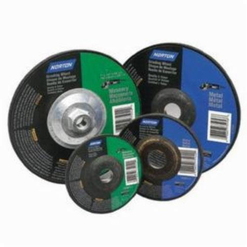 Norton® Gemini® 07660775956 DC718M All Purpose Depressed Center Wheel With Quick-Change Hub, 7 in Dia x 1/8 in THK, 7/8 in Center Hole, 60 Grit, Aluminum Oxide Abrasive