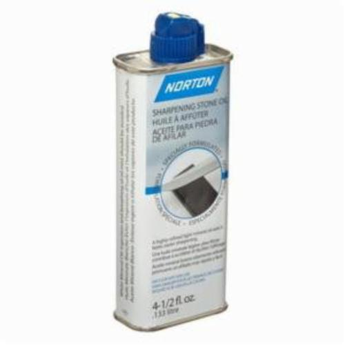 Norton® 07660787940 Sharpening Stone Oil, 4.5 oz Can, Liquid, Clear