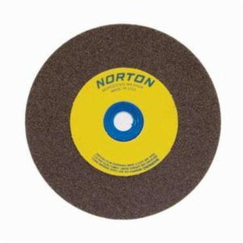 Norton® Gemini® 07660788202 57A Alundum® Straight Bench and Pedestal Grinding Wheel, 5 in Dia x 1/2 in THK, 1 in Center Hole, 60/80 Grit, Aluminum Oxide Abrasive