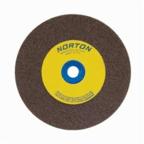 Norton® Gemini® 07660788205 57A Alundum® Straight Bench and Pedestal Grinding Wheel, 5 in Dia x 3/4 in THK, 1 in Center Hole, 100/120 Grit, Aluminum Oxide Abrasive