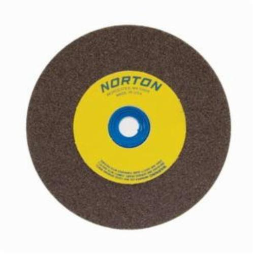 Norton® Gemini® 07660788225 57A Alundum® Straight Bench and Pedestal Grinding Wheel, 5 in Dia x 1 in THK, 1 in Center Hole, 60/80 Grit, Aluminum Oxide Abrasive