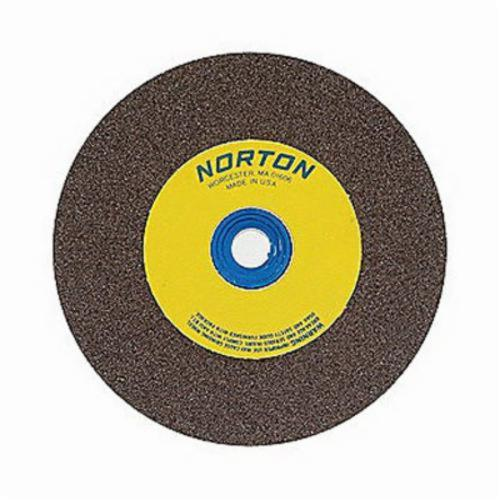 Norton® Gemini® 07660788235 57A Alundum® Straight Bench and Pedestal Grinding Wheel, 6 in Dia x 3/4 in THK, 1 in Center Hole, 100/120 Grit, Aluminum Oxide Abrasive