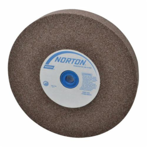 Norton® Gemini® 66253263052 57A Alundum® Straight Bench and Pedestal Grinding Wheel, 12 in Dia x 1-1/2 in THK, 1-1/2 in Center Hole, 36/46 Grit, Aluminum Oxide Abrasive