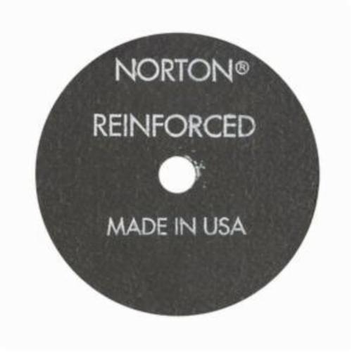 Norton® Metal® 07660789012 All Purpose Small Diameter Cut-Off Wheel, 2-7/8 in Dia x 1/16 in THK, 3/8 in Center Hole, 36 Grit, Aluminum Oxide Abrasive