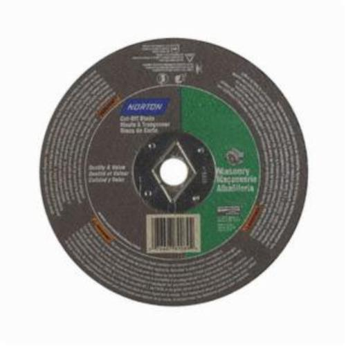 Norton® Masonry 07660789089 CO6518Ma Type 01 Reinforced Straight Cut-Off Wheel, 6-1/2 in Dia x 1/8 in THK, 5/8 in Center Hole, 24 Grit, Silicon Carbide Abrasive