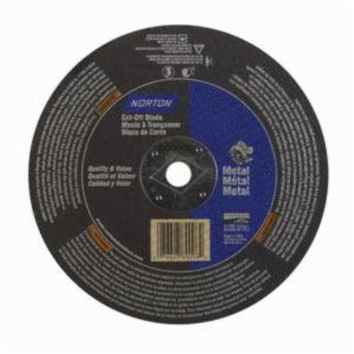 Norton® Metal® 07660789096 CO818M Type 01 All Purpose Reinforced Straight Cut-Off Wheel, 8 in Dia x 1/8 in THK, 5/8 in Center Hole, 24 Grit, Aluminum Oxide Abrasive