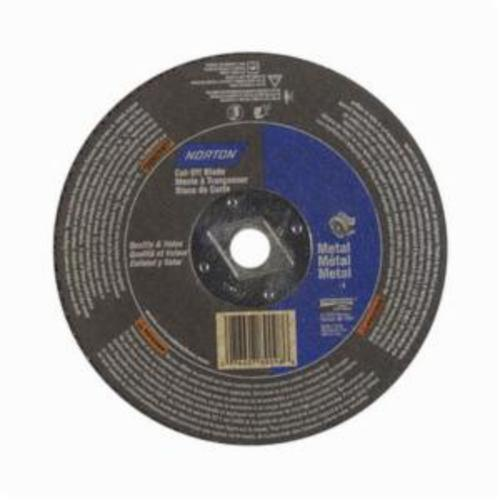 Norton® Metal® 07660789098 CO6518M Type 01 All Purpose Reinforced Straight Cut-Off Wheel, 6-1/2 in Dia x 1/8 in THK, 5/8 in Center Hole, 24 Grit, Aluminum Oxide Abrasive