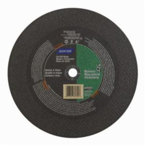 Norton® Masonry 07660789391 CO10332Ma Type 01 Reinforced Straight Cut-Off Wheel, 10 in Dia x 3/32 in THK, 5/8 in Center Hole, 24 Grit, Silicon Carbide Abrasive