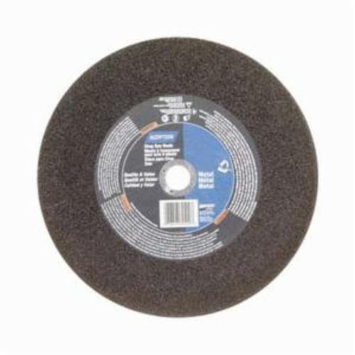 Norton® Metal® 07660789400 Type 01 All Purpose Reinforced Straight Cut-Off Wheel, 12 in Dia x 7/64 in THK, 1 in Center Hole, 36 Grit, Aluminum Oxide Abrasive