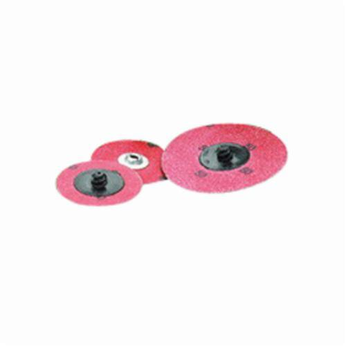 Norton® Merit® PowerLock® 08834167076 Zirc Plus R801 Coated Abrasive Quick-Change Disc, 3 in Dia, 80 Grit, Coarse Grade, Zirconia Alumina Abrasive, Type TS (Type II) Attachment