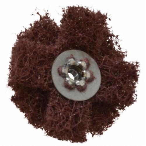 Merit® 08834187311 Cross Buffing Disc, 1-1/2 in Dia, Medium Grade, 3 Plys, 1/2 in W Face