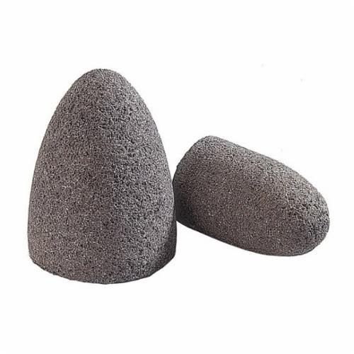 Norton® Gemini® 61463615722 57A24-R Portable Snagging Cone, 2 in Max Diameter, 3 in THK Head, 24 Grit, Coarse Grade, Aluminum Oxide Abrasive