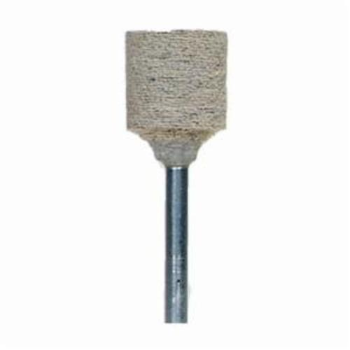 Norton® 61463622649 Cotton Fiber Mounted Point, W185 Cylindrical Point, 1/2 in Dia x 1/2 in L Head, 1/8 in Dia Shank