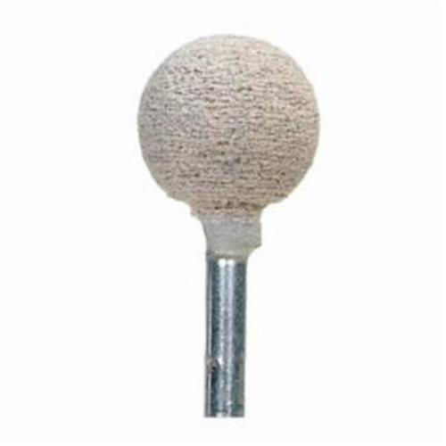 Norton® 61463622657 Cotton Fiber Mounted Point, B121 Ball Point, 1/2 in Dia x 1/2 in L Head, 1/8 in Dia Shank