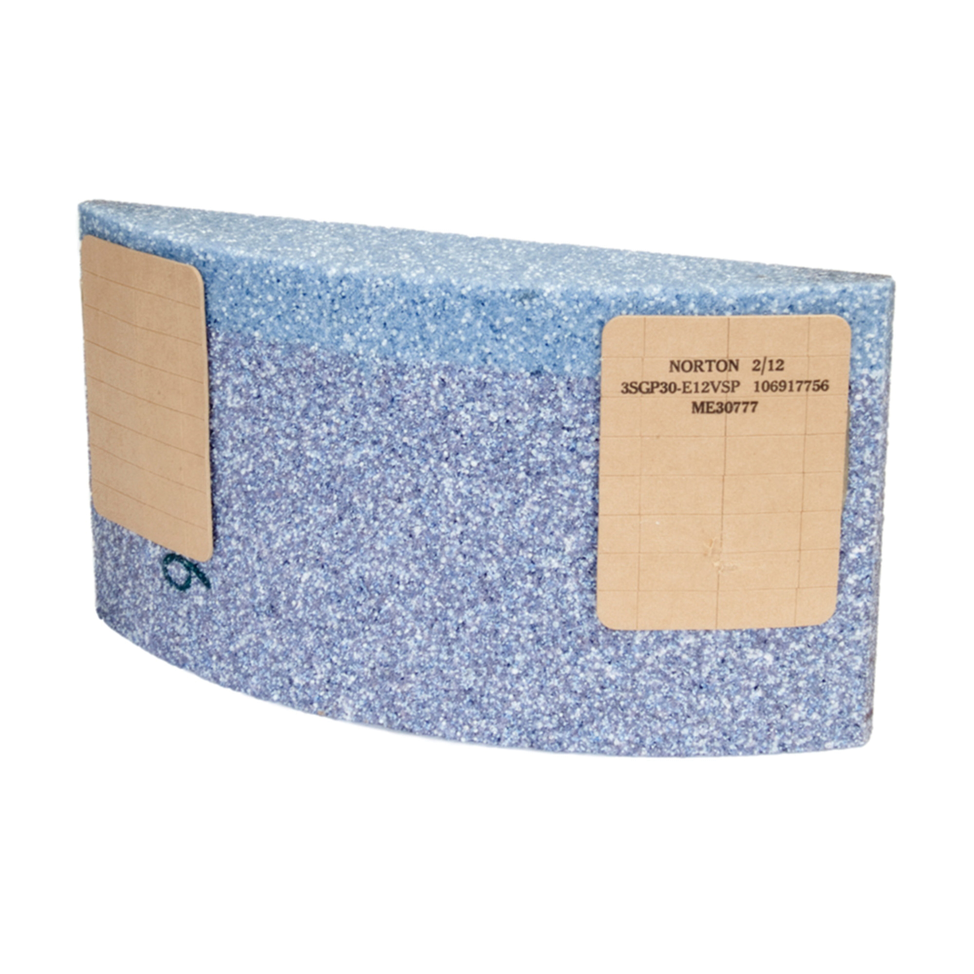 Norton® 61463650424 5SG Type 31 Surface Grinding Segment, 6 in H x 11-1/4 in W x 2-1/4 in THK, 30 Grit, Ceramic Alumina Abrasive