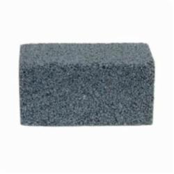 Norton® 61463653293 Plain Floor Rubbing Brick With Wooden Wedges, 4 in L x 2 in W x 2 in THK, C10-R Grit, Silicon Carbide Abrasive