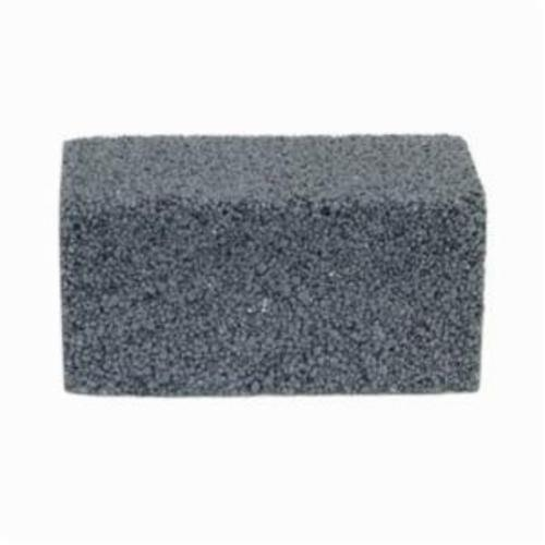 Norton® 61463653294 Plain Floor Rubbing Brick With Wooden Wedges, 4 in L x 2 in W x 2 in THK, C24R Grit, Silicon Carbide Abrasive
