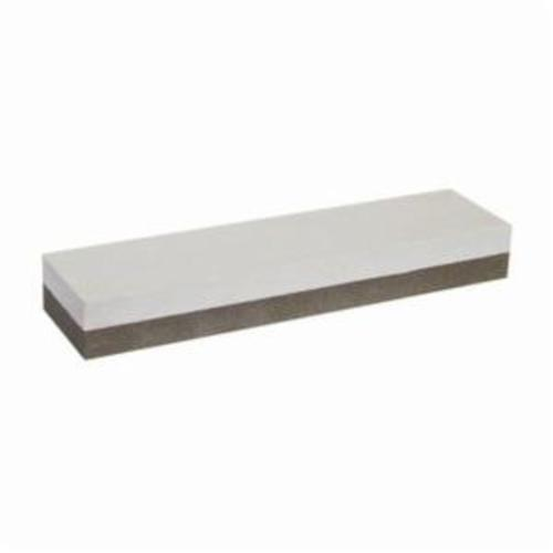 Norton® India® 61463653908 Combination Grit Sharpening Benchstone, 8 in L x 2 in W x 1 in H, 600 Grit
