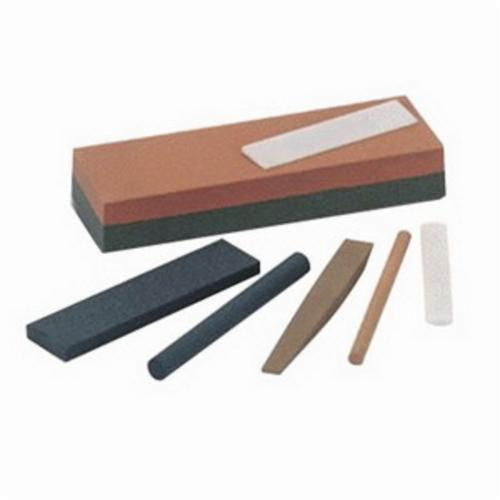 Norton® India® 61463685560 Combination Grit Abrasive Benchstone, 6 in L x 2 in W x 1 in H, 2 in Dia, 320 Grit