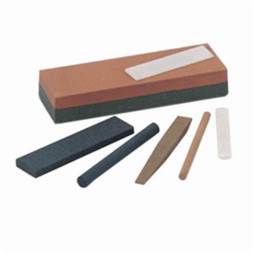 Norton® India® 61463685570 Single Grit Abrasive Benchstone, 4 in L x 1 in W x 1/4 in H, 1 in Dia, 320 Grit