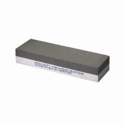 Norton® India® Soft Arkansas® 61463685700 Combination Grit Abrasive Benchstone, 6 in L x 2 in W x 1 in H, 2 in Dia, 600 Grit