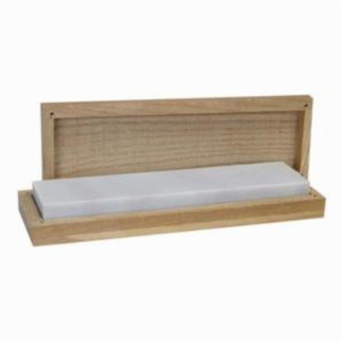 Norton® 61463685925 Sharpening Benchstone With Wooden Box, 4 in L x 2 in W x 3/4 in H