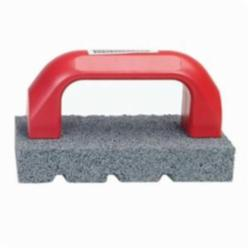 Norton® 61463687800 Fluted Hand Rubbing Brick With Handle, 6 in L x 3 in W x 1 in THK, C20 Grit, Silicon Carbide Abrasive