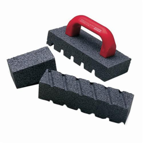 Norton® 61463687845 C20 Fluted Rubbing Brick, 8 in L x 2 in W x 2 in H, 24 Grit