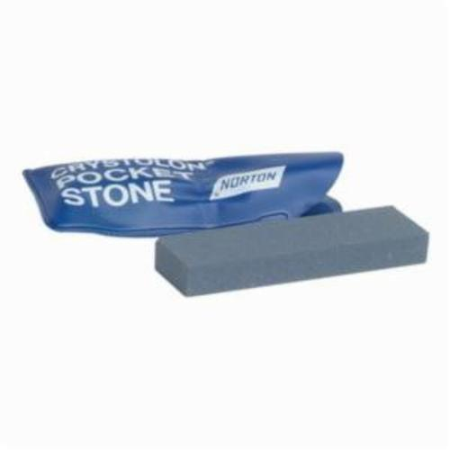 Norton® Crystolon® 61463690703 JP14 Pocket Stone With Case, 3 in L x 7/8 in W x 3/8 in H, 280 Grit
