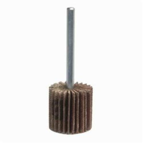 Norton® Metalite® 63642502596 R265 Mini Small Diameter Coated Flap Wheel, 2 in Dia Wheel, 1/2 in W Face, 1/4 in Dia Shank, P60 Grit, Medium Grade, Aluminum Oxide Abrasive