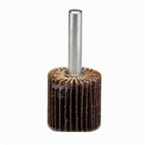 Norton® 63642502621 R265 Mini Flap Wheel With 1/4 in Steel Shank, 3 in Dia Wheel, 1 in W Face, 1/4 in Dia Shank, 80 Grit, Medium Grade, Aluminum Oxide Abrasive