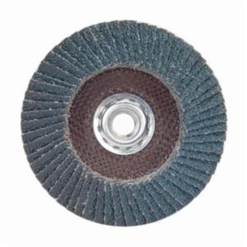 Norton® Charger™ 63642503511 R822 Arbor Thread Quick-Change Standard Density Coated Abrasive Flap Disc, 4-1/2 in Dia, P40 Grit, Extra Coarse Grade, Zirconia Alumina Abrasive, Type 27/Flat Disc