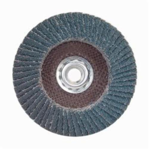 Norton® Charger™ 63642503518 R822 Arbor Thread Quick-Change Standard Density Coated Abrasive Flap Disc, 7 in Dia, P36 Grit, Extra Coarse Grade, Zirconia Alumina Abrasive, Type 27/Flat Disc