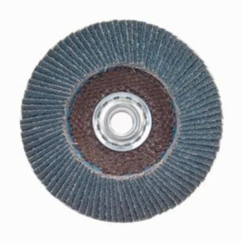 Norton® Charger™ 63642503528 R822 Arbor Thread Jumbo High Density Coated Abrasive Flap Disc, 4-1/2 in Dia, P60 Grit, Coarse Grade, Zirconia Alumina Abrasive, Type 27/Flat Disc