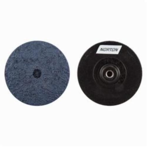 Norton® NorKut™ 63642503658 Coated Abrasive Quick-Change Disc, 3 in Dia, 50 Grit, Coarse Grade, Zirconia Alumina Abrasive, Threaded Hole Attachment