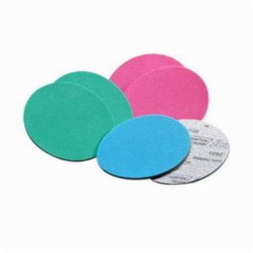 Norton® Ice® 63642506020 Q255 Hook and Loop Disc, 3 in Dia, P3000 Grit, Ultra Fine Grade, Aluminum Oxide Abrasive, Foam Backing