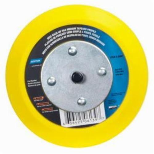 Norton® 63642506139 Medium Density Tapered Backup Pad, 5 in Dia Pad, PSA Attachment