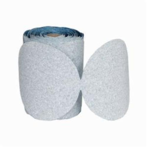 Norton® Dry Ice®No-Fil® 63642506199 A975 PSA Coated Abrasive Disc Roll, 6 in Dia Disc, P600 Grit, Ultra Fine Grade, Ceramic Alumina Abrasive, Paper Backing