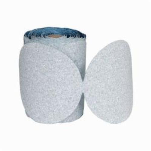 Norton® Dry Ice®No-Fil® 63642506200 A975 PSA Coated Abrasive Disc Roll, 6 in Dia Disc, P800 Grit, Ultra Fine Grade, Ceramic Alumina Abrasive, Paper Backing