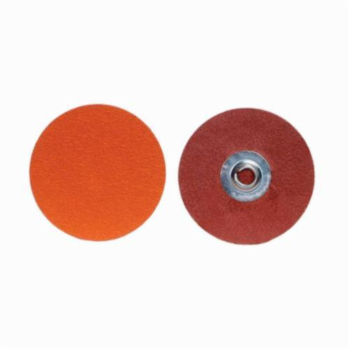Norton® Blaze® 63642595479 R980P Conformable Coated Abrasive Quick-Change Disc, 3 in Dia, 36 Grit, Extra Coarse Grade, Ceramic Alumina Abrasive, Type TR (Type III) Attachment